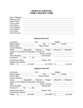 Adoption Request legal pleading template