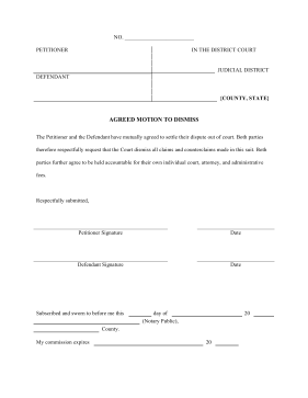 Printable agreed motion to dismiss legal pleading template agreed motion to dismiss legal pleading template maxwellsz
