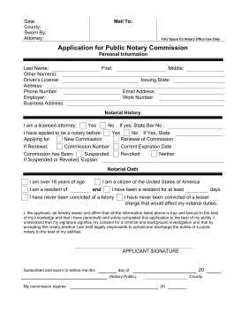 Application For Notary Commission legal pleading template
