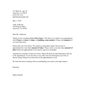 Appointment Letter legal pleading template