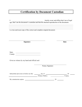 certification document template