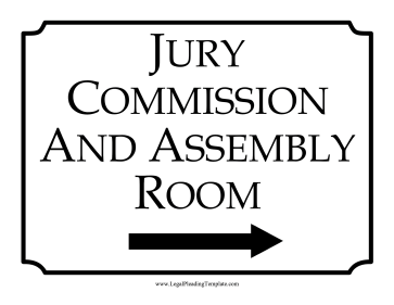 Jury Room Sign Right legal pleading template